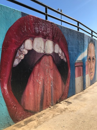 street art off of the lakefront trail